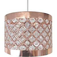 Country Club Sparkly Ceiling Pendant Light Shade Fitting, Metal, Copper