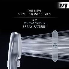 Das Original–Seoul Stone® | Soffione doccia doccetta | Spa Doccia | con funzione stop | Fino a 100% più pressione dell' acqua | 2017ER Serie