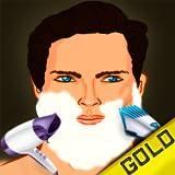 ivre rasage barbier salon de coiffure de beauté: la suppression de coupe de barbe dangereux relooking - édition d'or