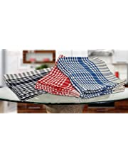 Manan Cotton Large Kitchen Towel, dishcloths, Wiping Cloths (45 x 65 cm, Multicolour) - Pack of 12
