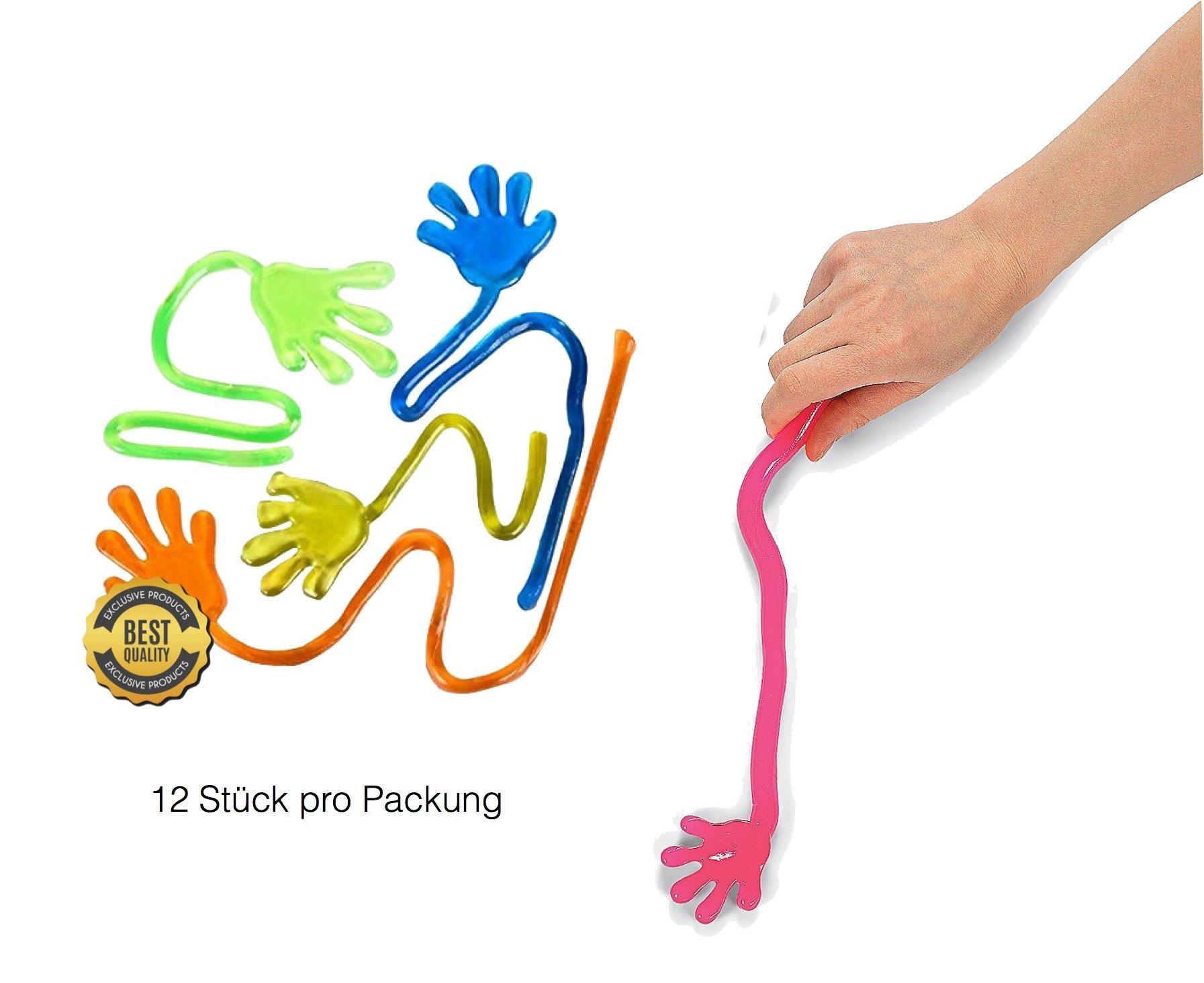 12x stck kinder mitbringsel giveaways mitgebsel glibber stretchy give away gummi klatschhand. Black Bedroom Furniture Sets. Home Design Ideas