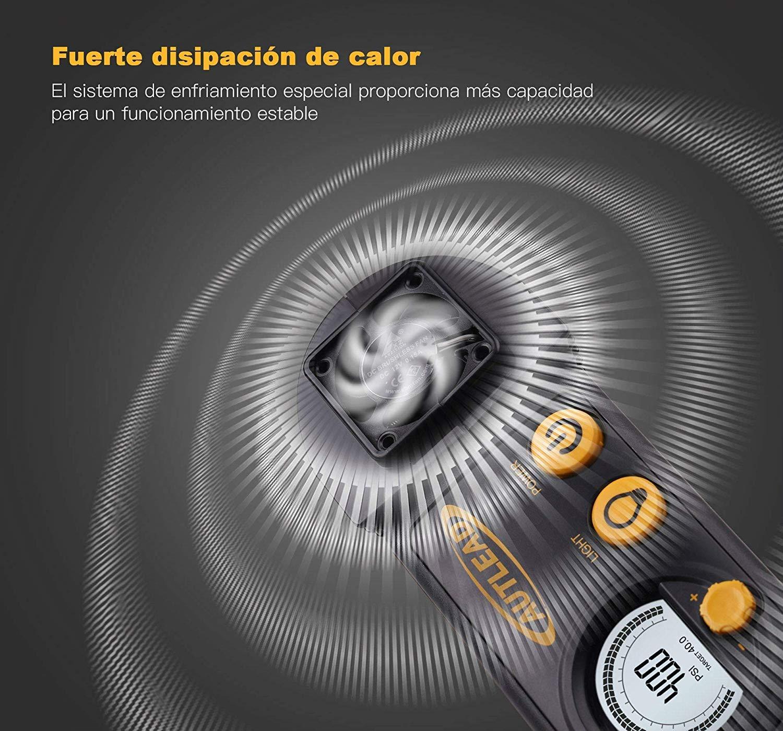 AUTLEAD C2 Compresor Aire Coche, 12V Auto Inflactor Ruedas Coche Embalado, Inflador Electrónico con Conector Rápido…