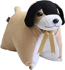 Lushomes Protective Brown Dog Cushion (Size: 35x28 cms)