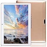 LNMBBS Tablet 10 Zoll HD - Android 7.0, 2GB RAM, 32GB eMMC, WiFi, 3G - Dual SIM, Bluetooth 4.0, GPS, 1.3GHz Quad Core (Gold)