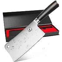 Imarku Couteau de Cuisine, Professionnelle 20 cm Poignée Ergonomique Couteau (Argent) (Vert)