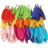 Mwoot 240 Pièces Plumes Colorées, Naturel Artisanat Plumes D'oie pour DIY Craft Boucles D'oreilles Artisanat Accueil Fête Mar