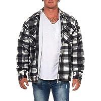 ZARMEXX Men's Thermal Shirt Veste Blazer Lumberjack Veste de Travail Veste en Flanelle À Carreaux Chauds