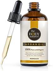 Reines Arganöl 100ml. 100% kalt gepresst und zertifiziert biologisch für Gesicht, Haare, Haut, Nägel - Natürlich & intensiv feuchtigkeitsspendend nährend für weiche, junge Haut, glatte Haare & gesunde Nägel