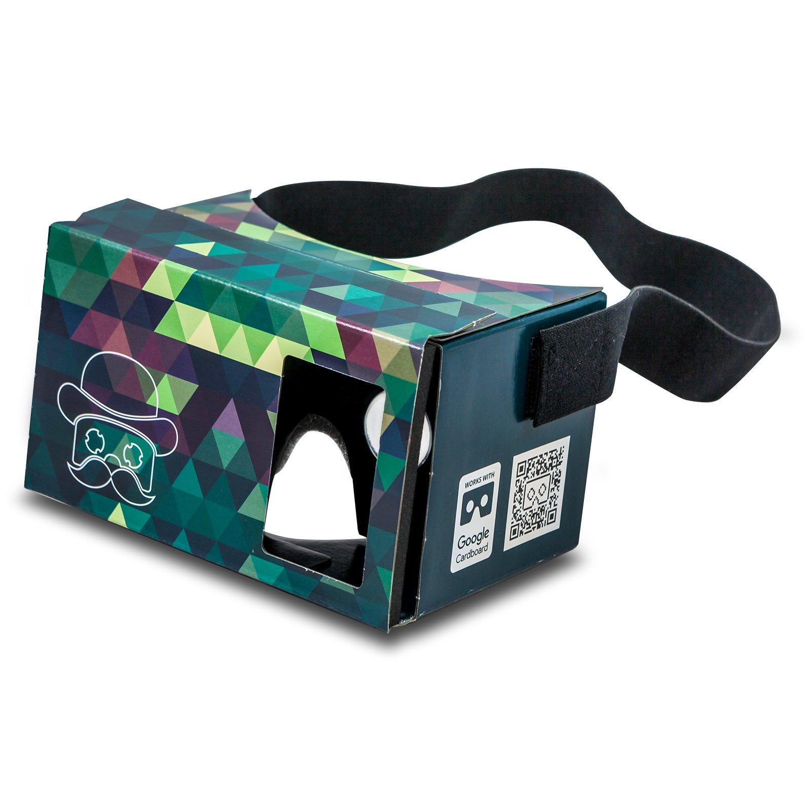 Google Cardboard POP! CARDBOARD + bandeau GRATUIT + appuis en mousse. Pour Android et iPhone pour 3,5 – 6,0 pouces. Lentilles optiques et bandeau inclus. Carton Lunettes 3D Réalité Virtuelle glasses VR glasses Virtual Reality Viewer VR goggles