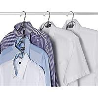 PUPOUSE Cintre - 5 en 1 Multicouches Cintre en Métal avec Antidérapante Éponge pour Jeans Jupes T-Shirts Pantalons…