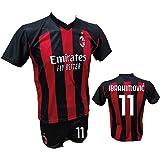 Completo Calcio Maglia Milan Personalizzabile Pantaloncino ...
