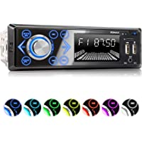 XOMAX XM-R272 Autoradio avec Connexion la Bluetooth et Musique I FM I Port USB (jusqu'à 128 GB) et Fente pour Cartes SD (jusqu'à 128 GB) I MP3 WAV I Entrée AUX I 1DIN I Tiroir métallique