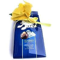Baci Perugina Idea Regalo - Baci Perugina Classico 125 g + Mini Bouquet di Mimose Artificiali - Festa della Donna