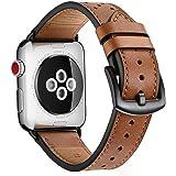 Äkta läderrem kompatibel med Apple Watch 44 mm 42 mm 40 mm 38 mm läderarmband för alla iwatch-versioner Edition Series 5/4/3/