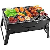SunJas Barbecue Portable Mini Barbecue à Charbon Pliable BBQ Grill Barbecue Démontable de Table 35 x 27 x 19.5 cm pour…