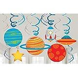 amscan 11011871 Blast 282278 Kit di decorazione da tavolo a tema spaziale 8 pezzi