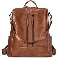 BROMEN Rucksack Damen Anti Diebstahl Rucksack Damenrucksack aus Leder Rucksackhandtasche Tagesrucksack für Frauen…