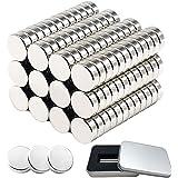 Neodymium Magneten 100 Stuks, 5x1mm Multifunctionele Koelkastmagneet met Opbergdoos, Sterke Krachtige Ronde Neodymium Magnete