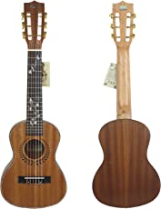 "HJUNS 28"" Guitalele Guitarlele Guilele Travel Guitar Solid Cedar Tastiera in Palissandro Ponte Strumento a Corde con lo spago libero e borsa"