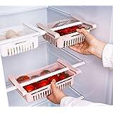 HapiLeap Boite Rangement Frigo Réfrigérateur Escamotable avec Tiroir Organisateur Boîte de Rangement pour Réfrigérateur Garde