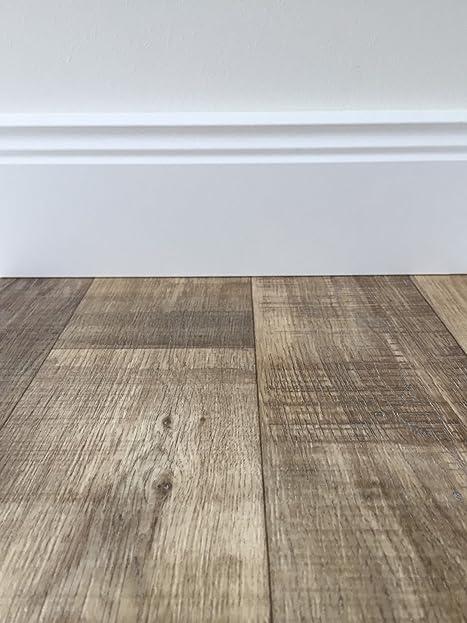 PVC-Bodenbelag Holzoptik in Dunkelbraun | Vinyl-Fußbodenbelag 100 ...
