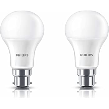 Philips B22 13-Watt LED Bulb (Warm White/Golden Yellow, Pack of 2)