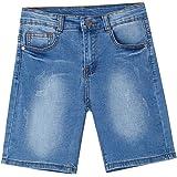 Newness Pantalones Cortos para Niños Short Vaquero Bermudas Vaqueras para Niños 8-14 Años (51419)