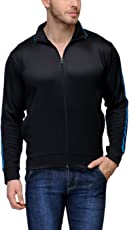Scott Premium Dryfit Sports Jackets for Men - Black with Blue Stripes