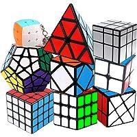 Coolzon Speed Cube Rubiscube, Ensemble de Cubes 2x2 3x3 4x4 Pyraminx Megaminx Mirror Cube Skewb Fisher Mini Cube…