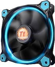 HPP Thermaltake Ring 12 Series High Static Pressure 120mm Circular LED Case Radiator Fan with Anti-Vibration (Blue)