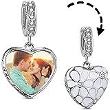 TinySand Bead Charms/Necklace Argento Sterling 925 Custom Double Hearts Foto Aggiuntive con Zircone Adatto per Bracciale Pand
