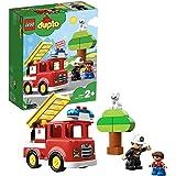 LEGO 10901 Duplo Town Le Camion De Pompiers Jouet pour Enfants 2 - 5 Ans avec Son, Lumière et Figurine De Pompier