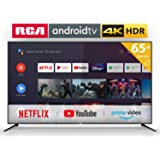RCA RS65U2 Smart TV (65 Pouces 4K Android TV avec Google Assistant, Google Play Store, Prime Video, Netflix) HDMI,USB,WiFi,Bl