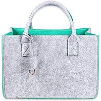 Schramm® Filztasche in 5 Farben 40x27x27cm Kaminholztasche Einkaufstasche Aufbewahrungstasche Filz Tasche Filztaschen…