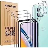 Kiewhay Schermbeschermer Compatibel met OnePlus Nord 2 5G Screen Protector 6,43'', 3x Gehard Glas +2x Camera Lens Protector,