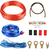 Amplifier Installation Kit, 1500W Car Audio Wire Wiring Amplifier Subwoofer Speaker Installation Kit 8GA Power Cable 60…