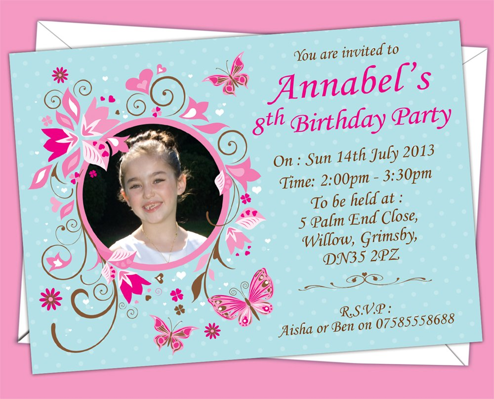 Personalised Kids/Children\'s Butterfly Themed Birthday Party ...