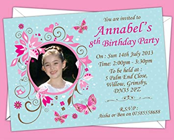 childrens personalised birthday invitations