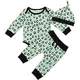Bebé Recién Nacido Niña Leopardo Trajes Otoño Manga Larga Mameluco Bodysuit+Harem Pantalones+Sombrero Otoño Invierno Ropa Con