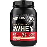 Optimum Nutrition Gold Standard 100% Whey Proteína en Polvo, Glutamina y Aminoácidos Naturales, BCAA, Helado de Vainilla, 30