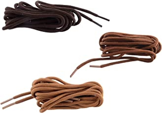 Shoeshine round hiking boot lace shoelace for boots (Pack of 3 Pairs)