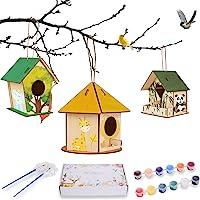 Ulikey Maison D'oiseau Bricolage Kit, 3 Pièce Maison D'oiseau Bricolage, Kit de Maison D'oiseau Bricolage pour Enfants…