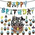 BETOY Cake Topper 17PCS Wizard Ispirato Cupcake Toppers Wizard Mago Decorazioni