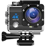 IDEER 4K Action Camera 16MP Vision Sport Camera, Ultra HD WiFi Waterproof Camera, 170° HD Wide Angle Lens Underwater Cam w/2