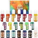 MENNO Kleur Pigment, (20 x 10 ml) vloeibare Epoxy Pigment Hars Kleurstof Epoxyharsverf Zeepkleurstof Resin Kleurstof voor Epo