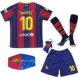 GamesDur Barca Voetbalshirt voor kinderen, 2020/2021, blauw, voor kinderen