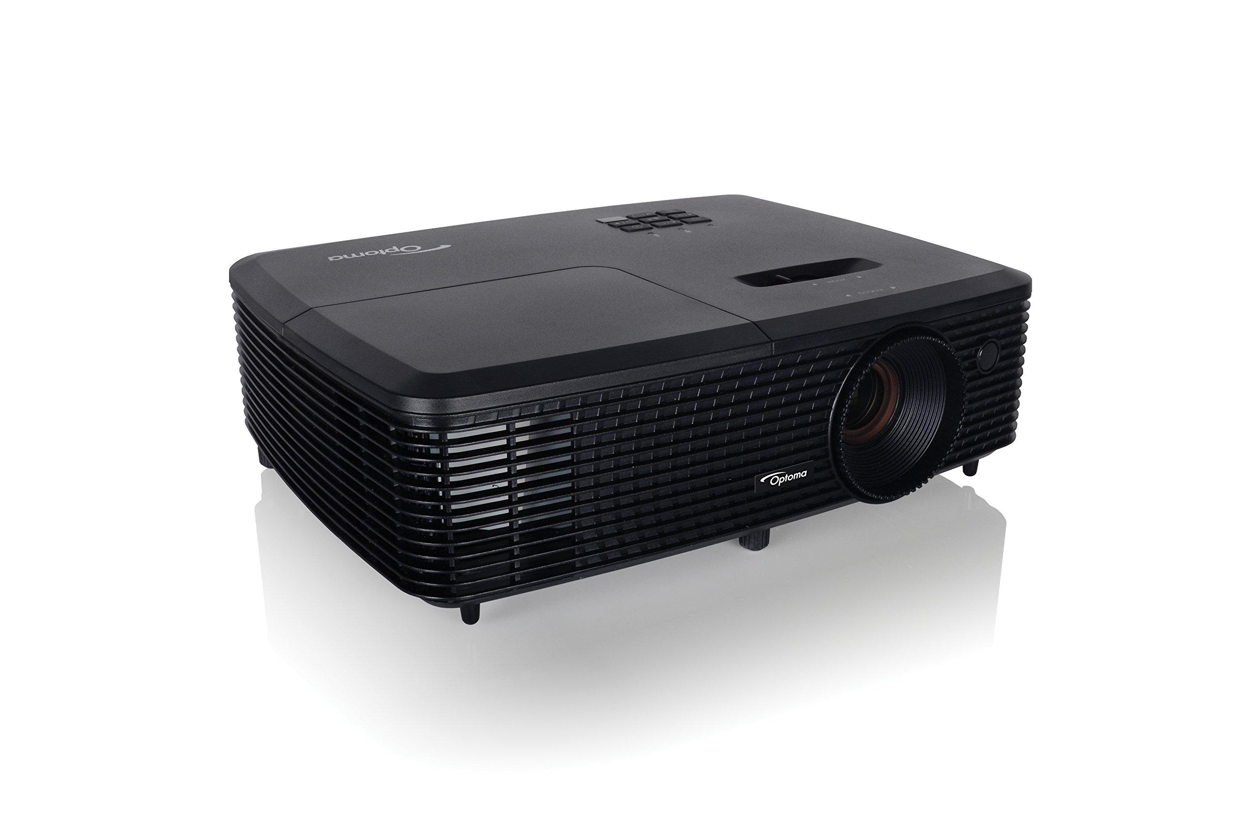 71SRBUz6yYL - Optoma DS348 SVGA DLP HDMI 3000 Lumens Full 3D Projector - Black