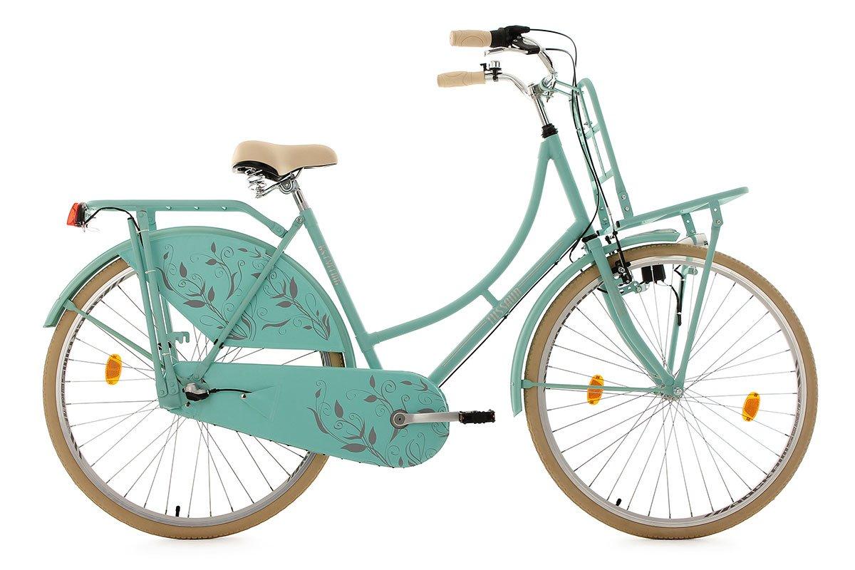 KS Cycling Damen Fahrrad Hollandrad Tussaud 3-Gang mit Frontgepäckträger RH 54