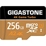 Gigastone 256GB Micro SD Card, 4K UHD Game Turbo, Nintendo-Switch Compatible, Read/Write 100/60 MB/s, A2 App Performance, UHS