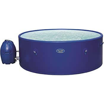 Lay-Z-Spa BW54113 Monaco Hot Tub, Airjet Inflatable Spa, 6-8 Person - Blue